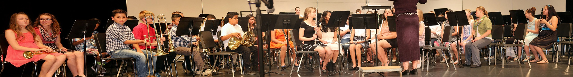 The Perry Middle School sixth grade band played four numbers during the spring concert at the Perry Performing Arts Center Thursday.