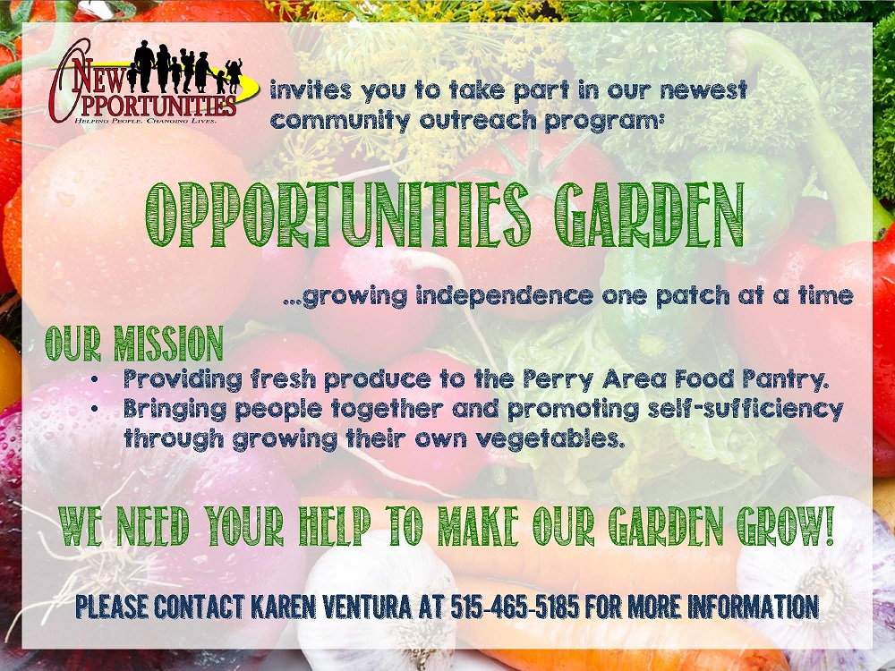 Opportunities Garden is growing fast, and help is needed weeding.