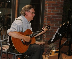 Tim Earp played a solo acoustic set in Soumas Court Aug. 14.