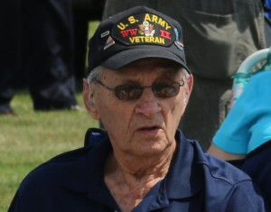Mahlon Conaway of Perry was among the U.S. veterans of World War II honored Sunday in the Iowa Spirit of '45 ceremony at the Iowa Veterans cemetery in Van Meter.