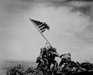 The U.S. Flag was raised on the Japanese island of Iwo Jima Feb. 23, 1945. This famous image was captured by Associated Press photographer Joe Rosenthal.