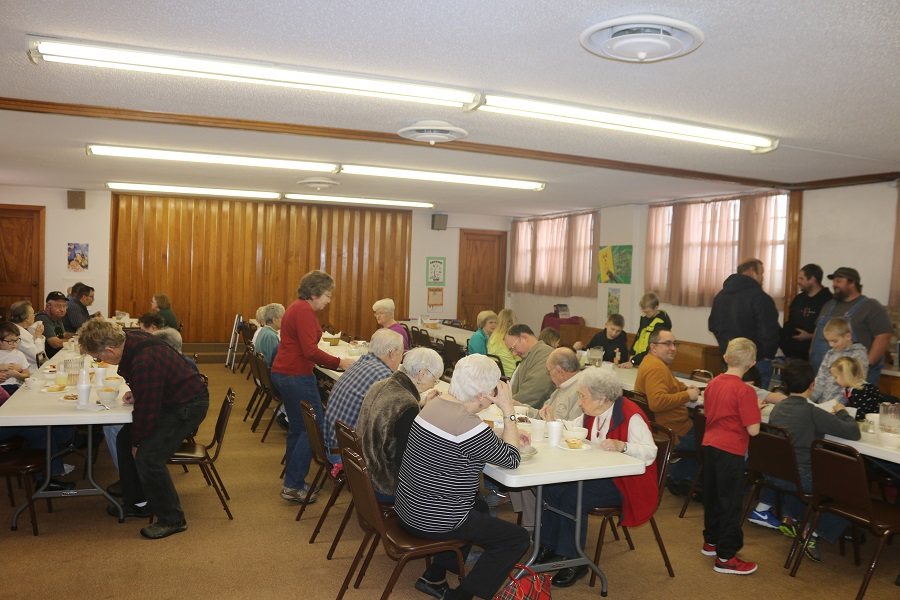 A steady stream of diners filled the basement of the Minburn United Methodist Church Saturday for the Minburn Volunteer Fire Department's annual soup fundraiser.