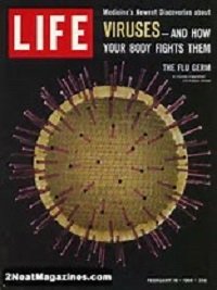 The issue of Life magazine published when I was born had a cover story about viruses. Fifty years have passed, and we are still concerned about viruses.