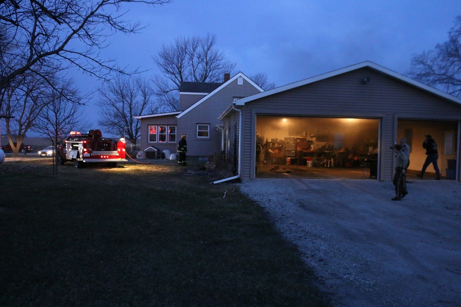 Dawson firefighters accessed the garage from the east and quickly controlled the blaze.