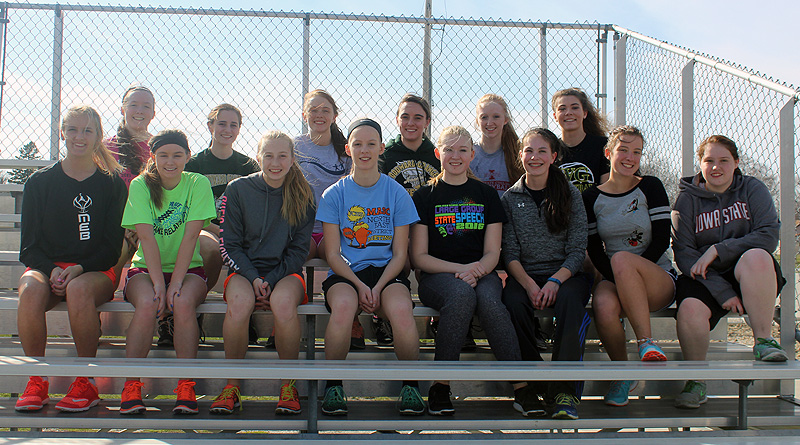 The W-G girls thinclads are pulling no punches in continuing to aim at having several events make the state meet.