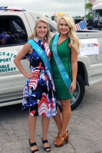 Current Dallas County Fair Queen Savannah David, left, and 2015 Queen Emily Harney.